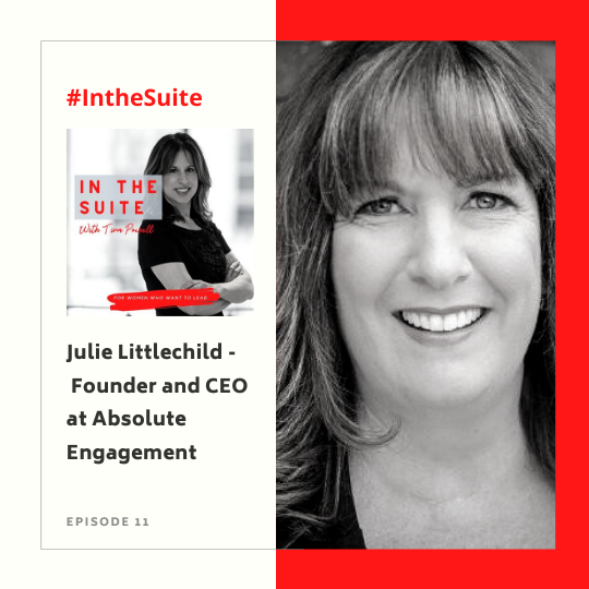 In the Suite Podcast Episode 12: Elevating the Client Experience and Gathering Feedback with Julie Littlechild, Founder and CEO of Absolute Engagement